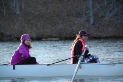 Lake Braddock rowers on the water