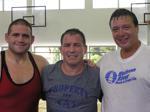 Rulon Gardner, Steve Fraser and Jeff Blatnick, Olympic Champions