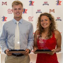 Amber Elliott 2017 Ms Softball & Sam Carlson 2017 Mr Baseball