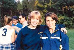 Shelley Walker (later Shelly Pieklik) and coach Mindy Dorish back when it all began.