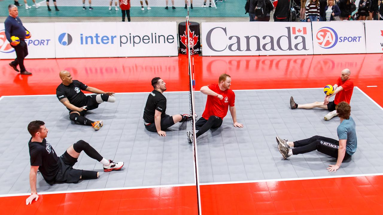 Team Canada Men's team in training